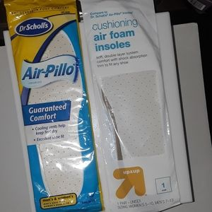 NWT Insoles Dr Scholl's Air Pillo Unisex 2 pairs
